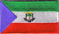 "Equatorial Guinea Flag Patch 1.5"" x 2.5"""