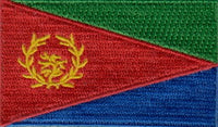 "Eritrea Flag Patch 1.5"" x 2.5"""