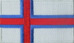 "Faroe Islands Flag Patch 1.5"" x 2.5"""