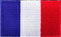 "France Flag Patch 1.5"" x 2.5"""