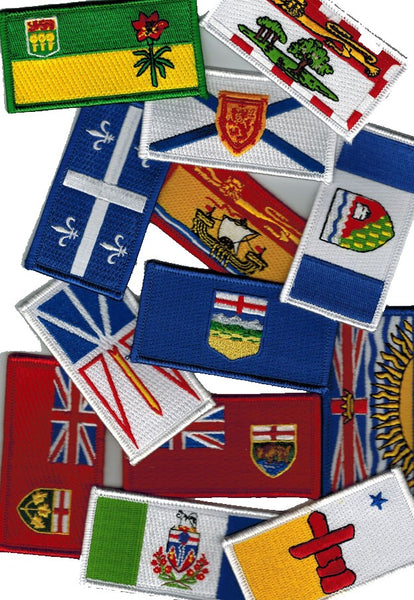 Set of 13 Canadian Province and Territory Flag Patches