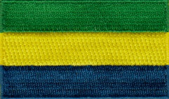 "Gabonese Republic Flag Patch 1.5"" x 2.5"""