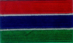 "Gambia (The) Flag Patch 1.5"" x 2.5"""