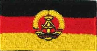 "Germany / East Germany (Old) Flag Patch 1.5"" x 2.5"""