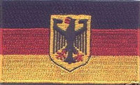 "Germany Eagle Flag Patch 1.5"" x 2.5"""