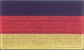 "Germany Flag Patch 1.5"" x 2.5"""