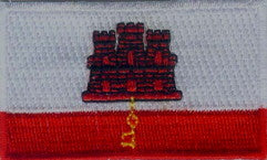 "Gibraltar Flag Patch 1.5"" x 2.5"""