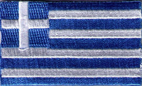 "Greece Flag Patch 1.5"" x 2.5"""