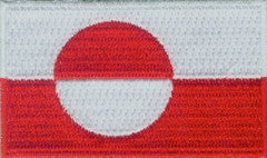 "Greenland Flag Patch 1.5"" x 2.5"""