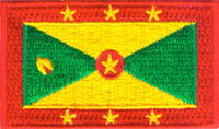 "Grenada Flag Patch 1.5"" x 2.5"""
