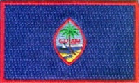 "Guam Flag Patch 1.5"" x 2.5"""