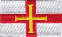 "Guernsey Flag Patch 1.5"" x 2.5"""