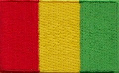 "Guinea Flag Patch 1.5"" x 2.5"""