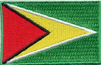 "Guyana Flag Patch 1.5"" x 2.5"""