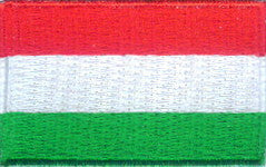 "Hungary Flag Patch 1.5"" x 2.5"""