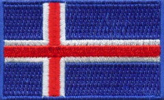 "Iceland Flag Patch 1.5"" x 2.5"""