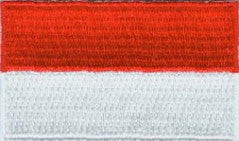 "Indonesia Flag Patch 1.5"" x 2.5"""