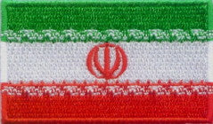 "Iran Flag Patch 1.5"" x 2.5"""