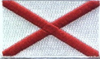 "Ireland / St. Patrick's Cross Flag Patch 1.5"" x 2.5"""