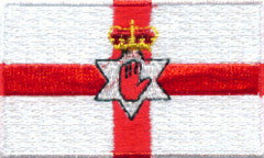 "Ireland / Northern Irleand / Ulster Flag Patch 1.5"" x 2.5"""