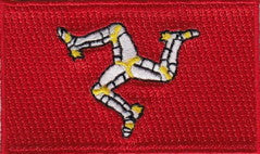 "Isle of Man Flag Patch 1.5"" x 2.5"""