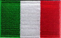 "Italy Flag Patch 1.5"" x 2.5"""