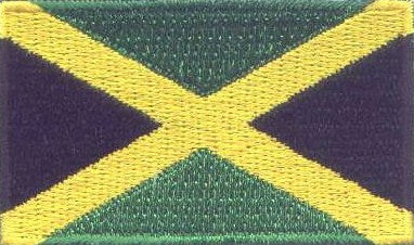 "Jamaica Flag Patch 1.5"" x 2.5"""