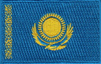 "Kazakhstan Flag Patch 1.5"" x 2.5"""