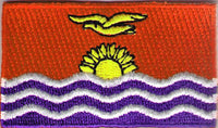"KiriBati Flag Patch 1.5"" x 2.5"""