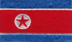 "Korea - North Flag Patch 1.5"" x 2.5"""