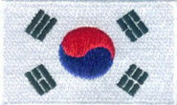 "Korea - South Flag Patch 1.5"" x 2.5"""