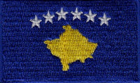 "Kosovo Flag Patch 1.5"" x 2.5"""