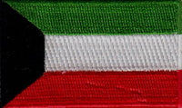 "Kuwait Flag Patch 1.5"" x 2.5"""