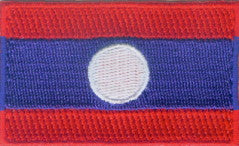 "Laos Flag Patch 1.5"" x 2.5"""