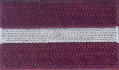 "Latvia Flag Patch 1.5"" x 2.5"""