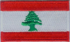 "Lebanon Flag Patch 1.5"" x 2.5"""
