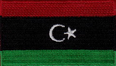 "Libya Flag Patch 1.5"" x 2.5"""
