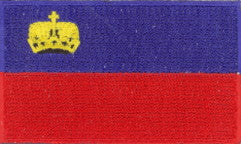 "Liechtenstein Flag Patch 1.5"" x 2.5"""
