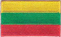 "Lithuania Flag Patch 1.5"" x 2.5"""