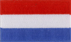 "Luxembourg Flag Patch 1.5"" x 2.5"""