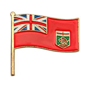 Manitoba Flag Lapel / Hat Pin 7/8""