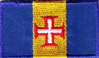 "Madeira Flag Patch 1.5"" x 2.5"""