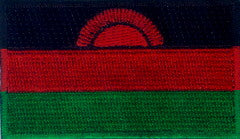 "Malawi Flag Patch 1.5"" x 2.5"""