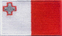 "Malta Flag Patch 1.5"" x 2.5"""