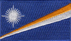 "Marshall Islands Flag Patch 1.5"" x 2.5"""
