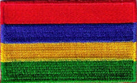 "Mauritius Flag Patch 1.5"" x 2.5"""
