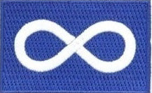 "Metis Flag Patch 1.5"" x 2.5"""