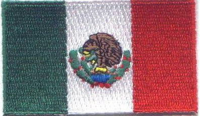 "Mexico Flag Patch 1.5"" x 2.5"""