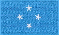 "Micronesia (Federated States) Flag Patch 1.5"" x 2.5"""