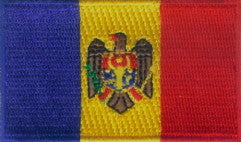 "Moldova Flag Patch 1.5"" x 2.5"""